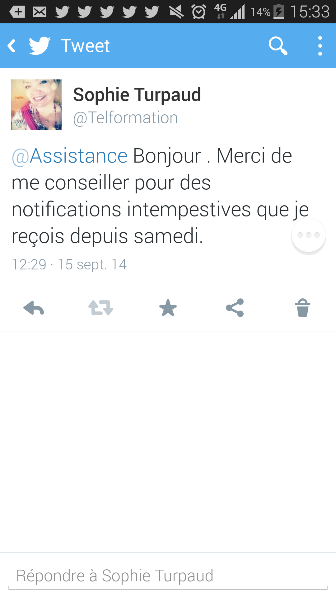 Assistance Twitter